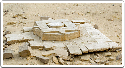 A massive altar at the Solar Temple of Niuserre at Abu Gorab, north of Abusir.