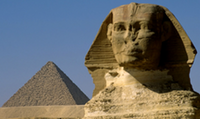 Giza Sphinx and Pyramid
