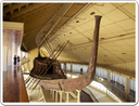 The reassembled funerary boat of Kheops, now in a museum next to the Great Pyramid.
