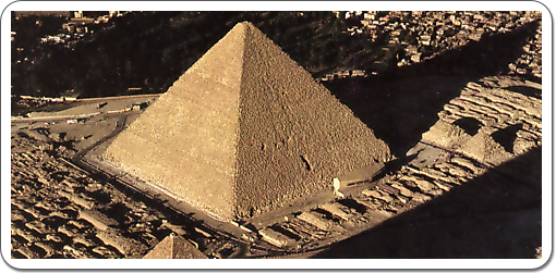 Air view on the Great Pyramid and the Queens' Pyramids next to it.