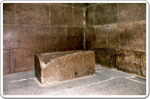 Despite all measures to seal off the burial chamber, the king's sarcophagus was found empty.