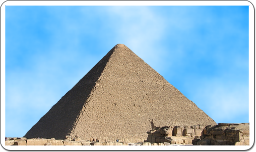 The Great Pyramid at Giza was built during the reign of Kheops.
