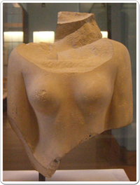 Torso of a statue believed to have reprsented Neferhetepes.