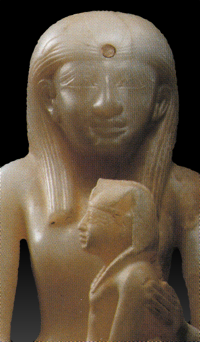 Akhenespepi I and her son, Pepi II