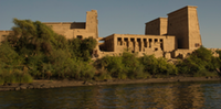 The temple of Isis on the island of Philae was the last temple to have housed an Ancient Egyptan cult.