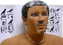 Statue of Rahotep, found in the tab he shared with his wife, Nofret.