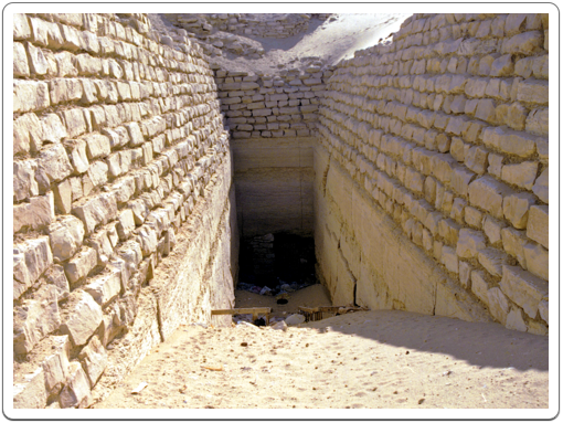 The entrance to the sub-structure of the Step Pyramid, as it is today.