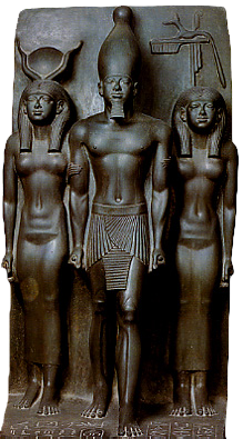 Hathor, Mykerinos and the provincial goddess of Anpu.